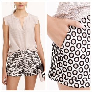 J. CREW Size 0 Punched-Out Eyelet Shorts